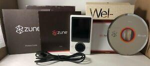 Microsoft ZUNE 30GB 1090 w/box & ALTEC LANSING Dock InMotion IM414 TESTED WORKS