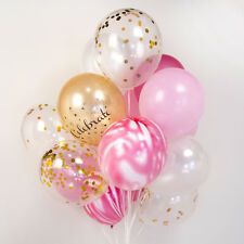 Strawberry marble gold confetti balloon bouquet :-) wedding party set of 20