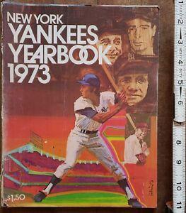 1973 NEW YORK YANKEES OFFICIAL YEARBOOK MLB PROFESSIONAL SPORTS EPHEMERA MAG