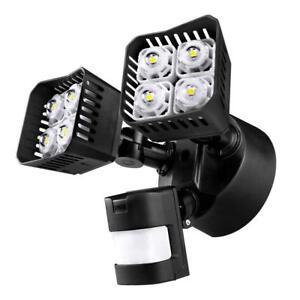 SANSI LED Motion Sensor Security Outdoor Waterproof Floodlight 30W Black
