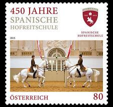 Oostenrijk 2015 Spaanse rijschool paarden Spanish Riding School   postfris (MNH)