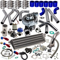 T3 T4 T04E Universal Turbo charger Kit Stage III+Wastegate+Intercooler+Piping
