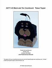 Black and Tan Coonhound 3-D Dog Tissue Topper-Plastic Canvas Pattern or Kit