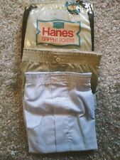 Nwot Nos Mens Sz 44 Vintage Hanes Gripper Boxer Shorts Snap Front Usa Made 5 pr