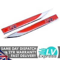 Red Fender Badge Set Car Badge For Seat Door Wing Compatible with FR Models