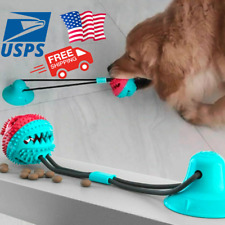 For Pet Dog Toy Silicon Suction Cup Tug Push Ball Tooth Cleaning.
