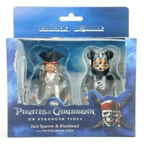 Pirates of the Caribbean Jack Sparrow Kubrick & Blackbeard Bearbrick 2pk Medicom