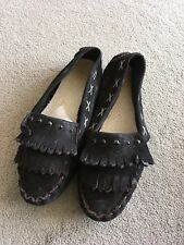 Damen Mokassin Lederschuhe Echt Leder Schuh Halbschuh Größe 38 schwarz neuwertig
