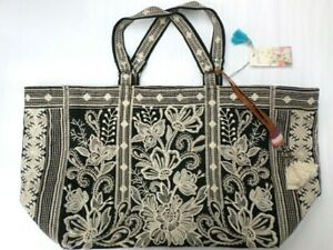 $310 NWT Johnny Was Embroidered Jewel Tote Bag - OL46241021