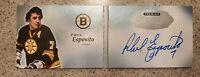 2017-18 UD Premier Phil Esposito Autograph Signature Booklets HOF Boston Bruins