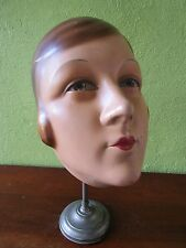 Exceptional French Vtg Plaster Mannequin Head Siegel Paris Stand Arts Pastiques