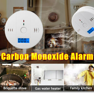 Carbon Monoxide CO Detector Alarm - Battery Operated Carbon Combination UK
