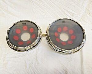 """Melanie Drums Fantoms 12"""" & 14"""" Vintage 1980's - Very Rare! *USED*"""