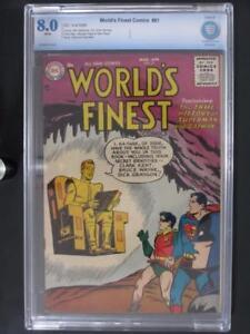 World's Finest Comics #81 - CBCS 8.0 VF - DC 1956 - Superman/Batman - HIGHEST!!!