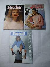 Various Knitting Machine Books/Magazines/Patterns - Vintage 1980s Fashion