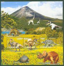 Curacao 2011 - Prähistorische Tiere - Dinosaurier Spinosaurus Dinos - Block 2