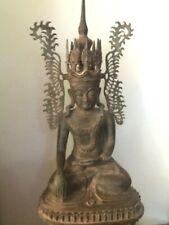 AGAL Thai Bronze Cast Antique Reproduction Sitting Burmese Buddha