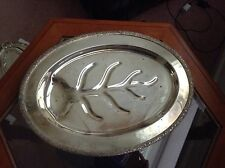 New listing Trent.Silver On Copper.4004.Footed Tray/Serving Platter.Sale!