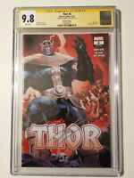 Thor 6 CGC SS 9.8 Signed by Donny Cates - 2nd Printing Thanos Infinity Mjolnir