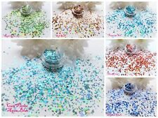 Hexagons Solid Holographic Colours Pot Spangle Glitter Nail Art Tip Decoration