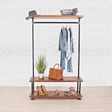 Industrial Pipe Clothing Rack With Cedar Wood Shelving William Roberts Vintage