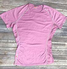 ICEBREAKER L Women Tech Tee Lite SS merino wool Shirt Purple Pink crew neck base