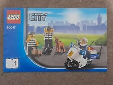 INSTRUCTION BOOK 1 ONLY 60047 LEGO CITY POLICE STATION POLICE BIKE MANUAL BOOK