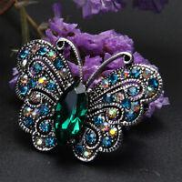 Cute Women Rhinestone Butterfly Shape Metal Brooch Lapel Pins Fashion Jewelry