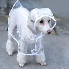 Poncho Clothes Puppy Dog Transparent Foldable Pet Raincoat Waterproof S