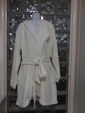 Soma French Terry  SHORT Robe In IVORY Color NEW Size XXL