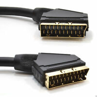 SCART  Plug to Plug - 21 pins connected - Gold - 5m
