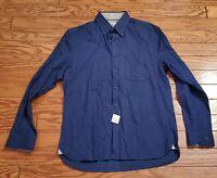 Joseph A Bank Men's Button Down LS Shirt Size M Blue BlackTailored fit 61-13