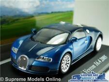 BUGATTI VEYRON MODEL CAR 1:43 SCALE 2005 BLUE IXO ATLAS 2891011 MYTHIQUES K8