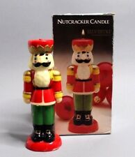 """1985 SILVESTRI Vintage Nutcracker Soldier Holiday Christmas 8"""" Candle #89282"""