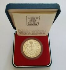 More details for 1977 royal mint hm queen elizabeth ii silver jubilee uk silver proof crown coin
