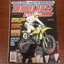 MOTOCROSS ACTION MAY 1982 WORKS KX250 YZ250 KTM 490 VINTAGE BROC GLOVER VMX