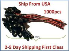 1000pcs  9V Battery Connector Snap Clip Wire Lead 9 Volt Holder