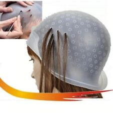Silicone Hair Colouring Highlight Cap with Needle Reusable Dye Cap Salon Profess
