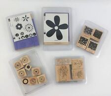 Stampin Up Lot of 5 Sets Unused Rubber Wood Mounted Stamps Celebration Flowers