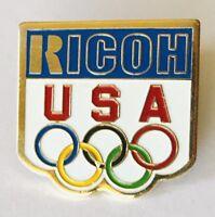 Ricoh USA Olympic Team Sponsor Pin Badge Rare Vintage (N7)