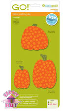 "55323- New Accuquilt GO Pumpkins Die 6"" x 12"" Holiday Fall Halloween Gord Cutter"