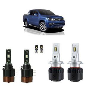 For Volkswagen Amarok 2012-2020 LED Headlights H7 H15 DRL Hi Low Conversion Kit