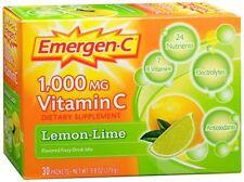 Emergen-C Vitamin C Drink Mix Packets Lemon Lime 30 Each