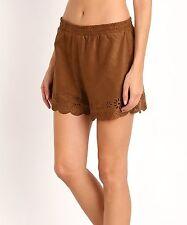 NWT $88 BB Dakota Laser Cut Faux Suede / Vegan Leather Shorts sz S