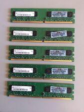 RAM Memory 1GB 2Rx8 PC2-5300U-555-12-EO  (4) Sticks = 4 GB + 1 Extra Stick!!