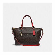 Coach Prairie Satchel in Signature Canvas Handbag F79998 Brown Red 1941