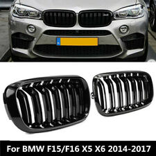 Gloss Black Front Hood Kidney Grille Grill for BMW F15/F16 X5 X6 2014-2017 FT