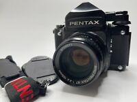 [ LOOK!! TOP MINT ] Pentax 67 6x7 Late TTL SMC Pentax 105mm f2.4 Lens From Japan