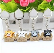4pcs Fashion Cute Cat  Pendant Keychain Car Keyring For Women Girl Gift