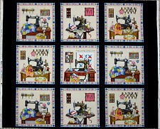 STITCH IN TIME SEWING QUILTING FABRIC THEME NOTION PANEL ELIZABETH STUDIO COTTON